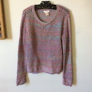 SUNDANCE Pastel Soft Rainbow Sweater Pullover